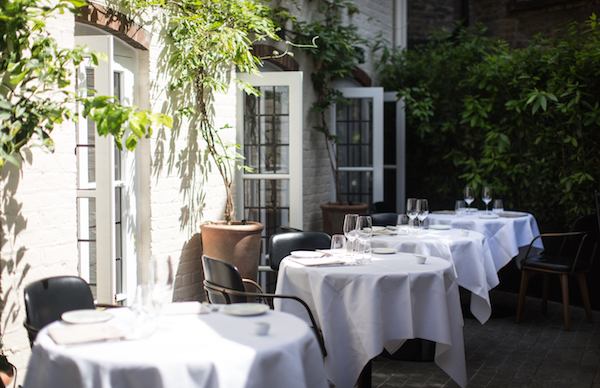 The terrace at Toto's Restaurant in Knightsbridge
