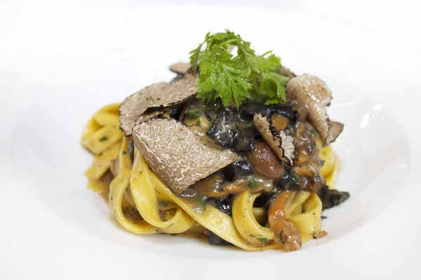 The pasta with truffle at Toto's Restaurant in Knightsbridge