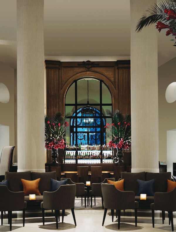 The lobby bar at One Aldwych hotel