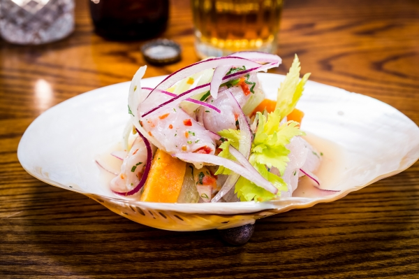 Ceviche dish at Ceviche Old Street from Martin Morales
