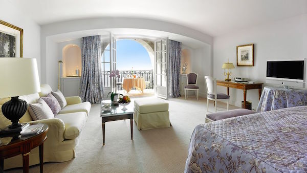 The Provencal designed bedrooms at Chateau St Martin in the South of France
