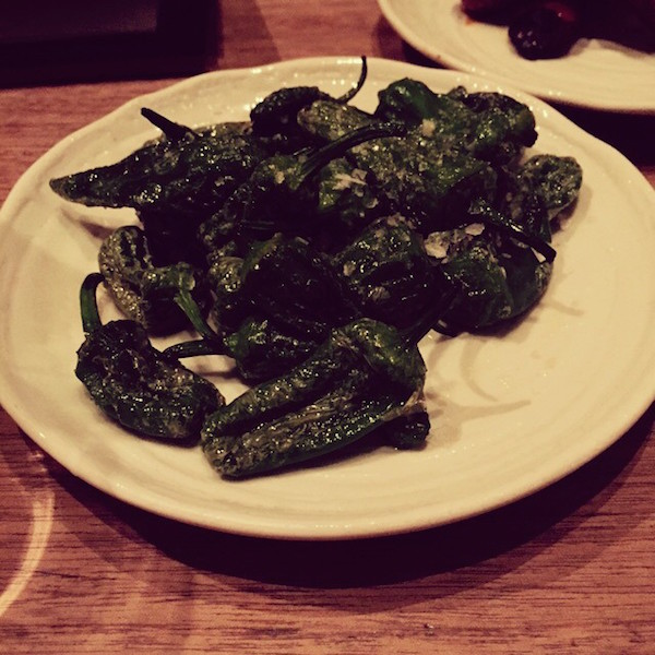 The Padron Peppers at The Tapa Room