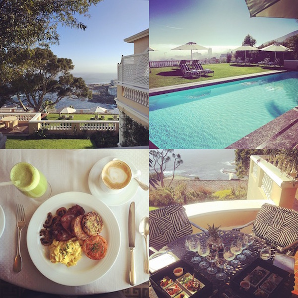 The food at Ellerman House Hotel