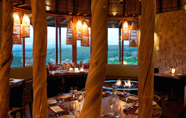 The restaurant with a view at Gondwana Game Reserve