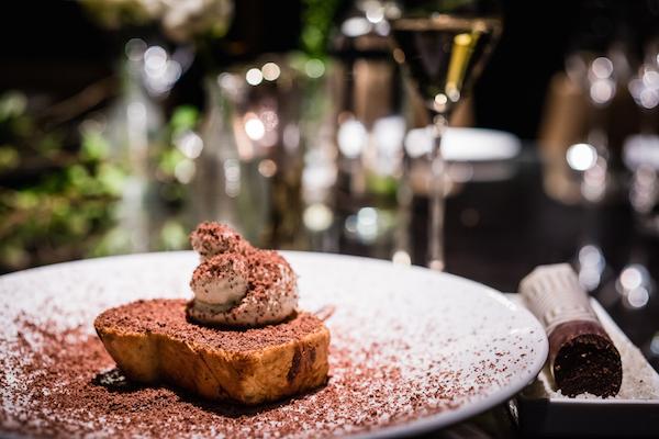 Chocolate brioche for brunch at Quaglino's restaurant in St James's