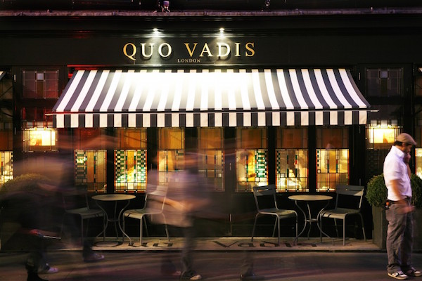 Quo Vadis restaurant in Soho