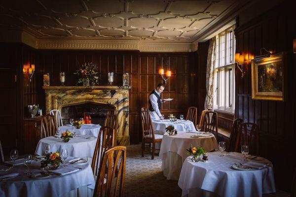 The restaurant at Gravetye Manor