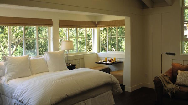 The bedrooms at Meadowood in Napa