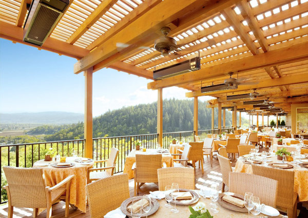 The restaurant at Auberge du Soleil in Napa Valley