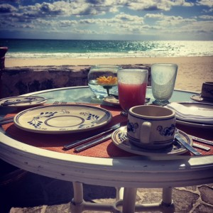 The view from breakfast at the Belmond Maroma