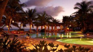 Night time at Viceroy Riviera Maya